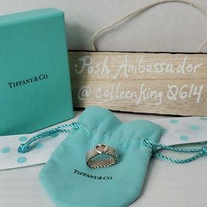 Tiffany & Co Somerset Heart Mesh Ring Size 5
